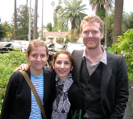 Stephanie Bennett (center) with Marketa Irglova and Glen Hansard.