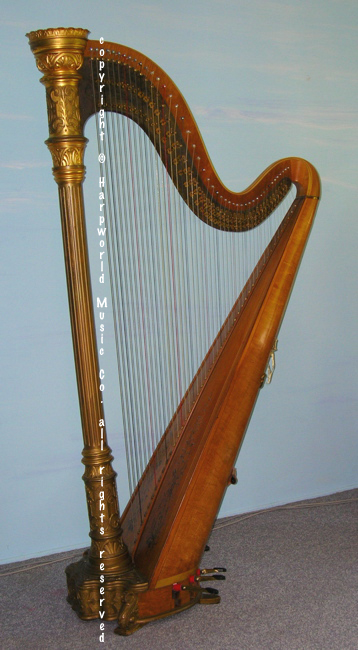 Lyon & Healy Antique (1916) Gilded Model 20 harp