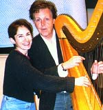 Stephanie Bennett in recording session with Sir Paul McCartney