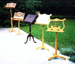 beautiful wooden music stands