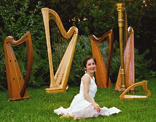 sitting in a forest of harps