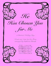 He Has Chosen You for Me sheet music for harp and vocal