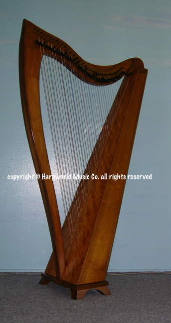 Celtic nylon strung harp