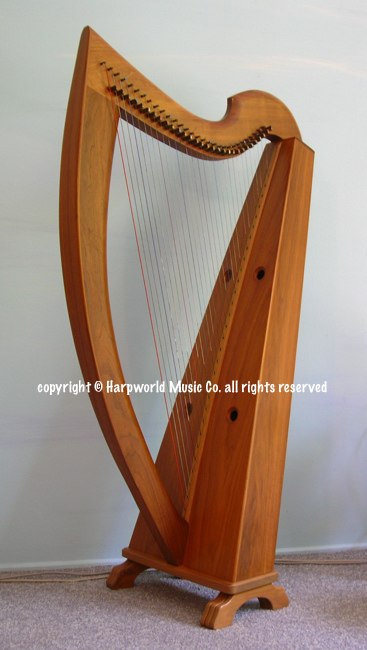 Wire strung Celtic harp